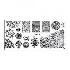 Matrita Metalica Stampila Unghii XY-J18 - Mandala imagine