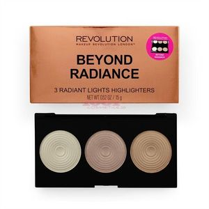 MAKEUP REVOLUTION BEYOND RADIANCE 3 RADIANT HIGHLIGHTERS PALETA ILUMINATOARE imagine