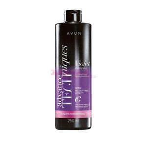 AVON ADVANCE TECHNIQUES VIOLET SAMPON NUANTATOR PENTRU PAR BLOND imagine