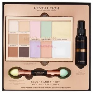 MAKEUP REVOLUTION SCULPT AND FIX KIT PENTRU MAKEUP imagine