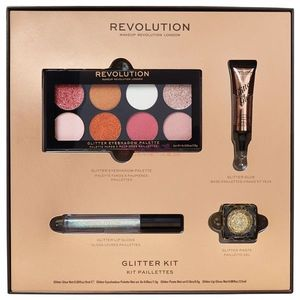 MAKEUP REVOLUTION GLITTER KIT DE MAKEUP SET imagine