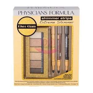 PHYSICIAN FORMULA EXTREME SHIMMER STRIPS TRUSA FARD + 3 X CREION DE OCHI SET GOLD NUDE imagine