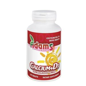 ADAMS CALCIUM + D3 SUPLIMENTE ALIMENTARE 90 TABLETE imagine