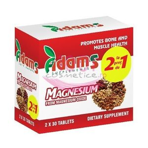 ADAMS SUPPLEMENTS MAGNESIUM PACHET 1+1 GRATIS imagine