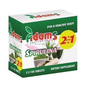 ADAMS SUPPLEMENTS SPIRULINA PACHET 1+1 GRATIS imagine
