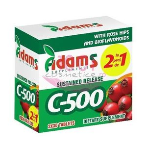 ADAMS SUPPLEMENTS C-500 PACHET 1+1 GRATIS imagine