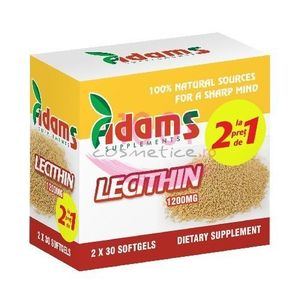 ADAMS SUPPLEMENTS LECITINA PACHET 1+1 GRATIS imagine