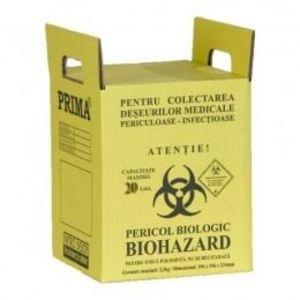 Cutie Incinerare Deseuri Periculoase - Prima Cremation Boxes for Medical Waster 20 litri imagine