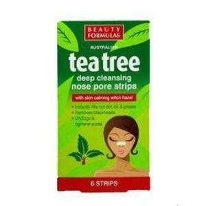 Benzi de curatare a nasului cu extract de arbore de ceai, 6 buc - Beauty Formulas imagine