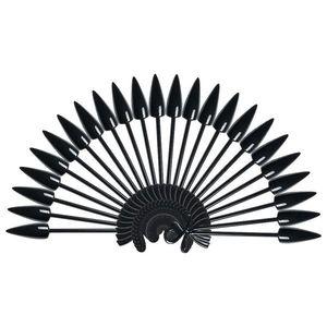 Paletar Unghii Stiletto 24 pozitii pentru exersare si expunere, negru, inel imagine