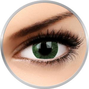 Basic Green - lentile de contact colorate verzi trimestriale - 90 purtari (2 lentile/cutie) imagine