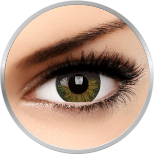 Natural Green - lentile de contact colorate verzi trimestriale - 90 purtari (2 lentile/cutie) imagine