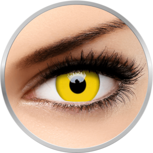 Crazy Yellow - lentile de contact colorate galbene anuale - 360 purtari (2 lentile/cutie) imagine