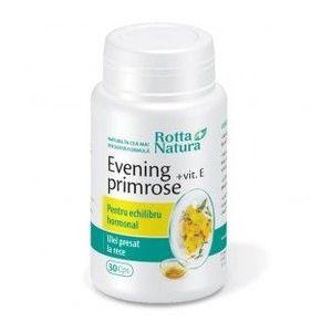 Evening Primrose + Vitamina E, 30 capsule imagine