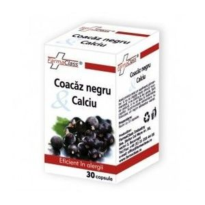 Coacaz negru & Calciu, 30 capsule imagine