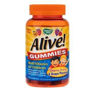 Alive! Gummies Multi-Vitamin for Children 90 jeleuri Nature's Way, natural, Secom imagine