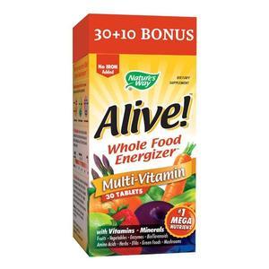 Alive!(fara fier adaugat) 30 tablete Nature's Way, natural, Secom imagine