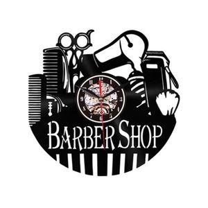 Wall clock Barber shop / Barber shop – Black imagine