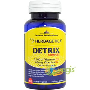 Detrix Complex (Vitamina D3 + Vitamina K2 + Calciu + Magneziu) 60cps imagine