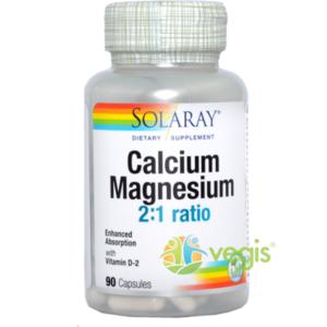 Calciu Magneziu cu Vitamina D 90cps imagine