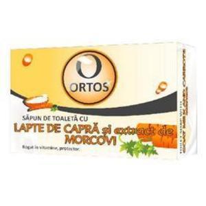Sapun cu Lapte de Capra si Extract de Morcov Ortos Prod, 100 g imagine