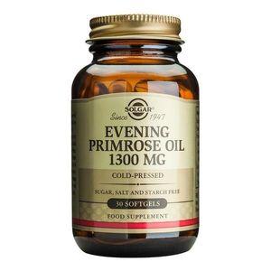 Acizi grasi Evening Primrose Oil (Ulei de Luminita noptii) 1300mg 30 capsule moi, Solgar, natural imagine