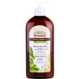 Green Pharmacy Body Care Aloe & Rice Milk loțiune de corp hidratantă cu efect de nutritiv imagine