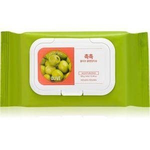 Holika Holika Daily Fresh Olive șervețele demachiante, pentru un machiaj persistent și rezistent la apă imagine