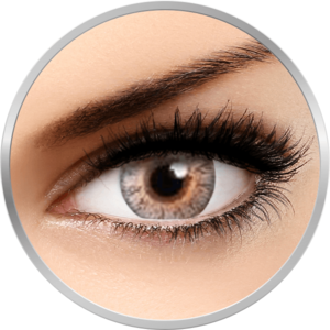 Flash Glam Grey - lentile de contact colorate gri 90 de purtari (2 lentile/cutie) imagine