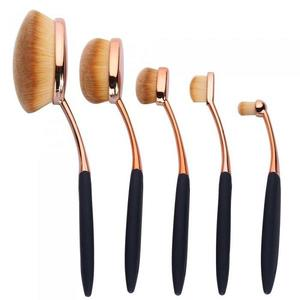 Set 5 Pensule Ovale Profesionale ROYAL Flawless Finish Collection imagine