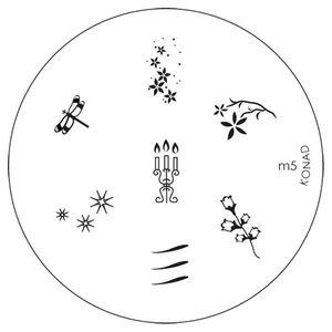 Matrita Metalica Stampila Unghii M5 - Nature imagine