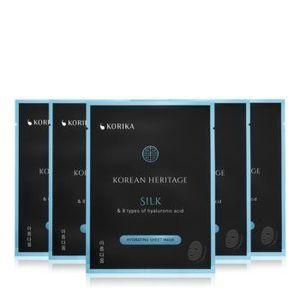 KORIKA Korean Heritage set de măști de față la un preț mai avantajos Silk rating sheet mask (cu efect de hidratare) imagine