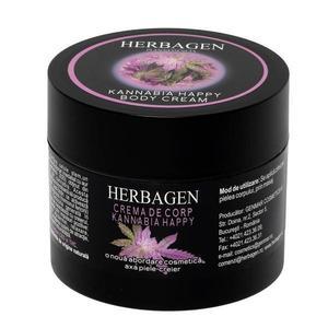Crema de Corp Kannabia Happy cu Celule Stem din Seminte de Canabis Herbagen, 200 g imagine