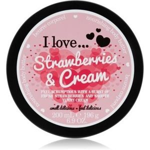 I love... Strawberries & Cream unt pentru corp imagine