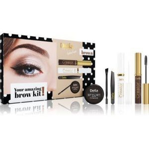 Delia Cosmetics Eyebrow Expert Brown set cadou (pentru sprancene) imagine