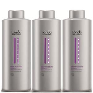 Pachet 3 x Sampon Intens Hidratant - Londa Professional Deep Moisture Shampoo 1000 ml imagine