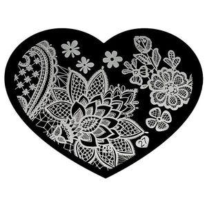 Matrita Metalica Stampila Unghii Hearts #27 imagine