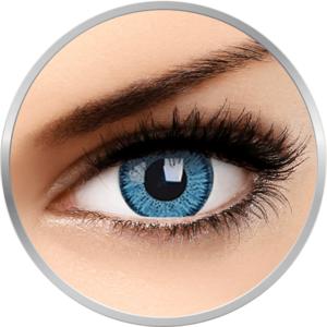 Bright Blue - lentile de contact colorate albastre trimestriale - 90 purtari (2 lentile/cutie) imagine