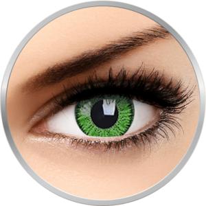 Bright Green - lentile de contact colorate verzi trimestriale - 90 purtari (2 lentile/cutie) imagine