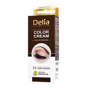 Vopsea pentru Sprancene cu Ulei de Argan Delia Cosmetics, nuanta 3.0 Maro Inchis, 15ml imagine