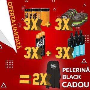 NISH MAN - Pachet promo - Colonie + Fixativ + Ceara - 3 buc + 2 pelerine cadou imagine