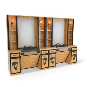 SOMPREMIUM - Barber shop furnishing- Model BT181 imagine