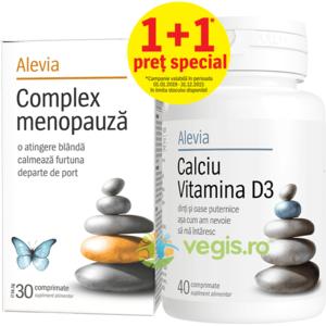Complex Menopauza 30cpr + Calciu Vitamina D3 40cpr imagine