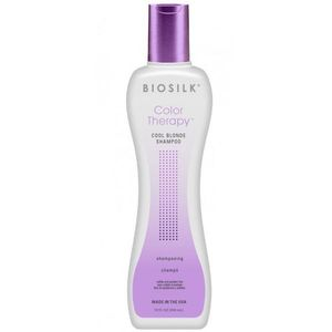 Sampon pentru Par Blond - Biosilk Farouk Color Therapy Cool Blonde Shampoo 355 ml imagine