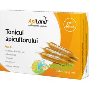 Tonicul Apicultorului 10 Fiole - Laptisor pur, miere, propolis si polen imagine