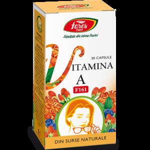 Vitamina A naturala, 30 capsule, Fares imagine