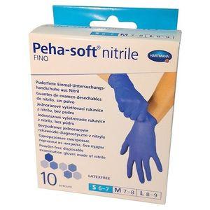 Manusi albastre nitrile Fino Peha Soft marimea S, 10 bucati, Hartmann imagine