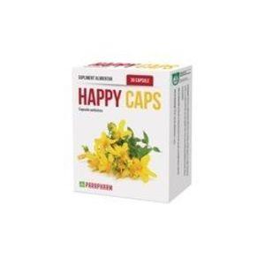 Happy Caps antistres, 30 capsule, Parapharm imagine