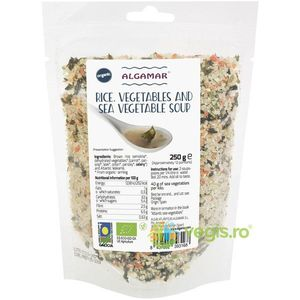 Supa cu Orez si Alge Marine Ecologica/Bio 250g imagine
