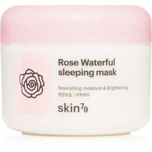 Skin79 Rose Waterfull masca hidratanta de noapte cu apă de trandafiri imagine